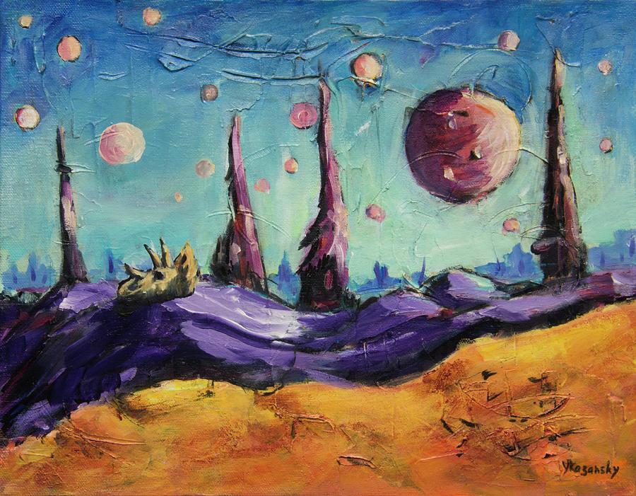 Alien Planet of Thousand Moons by Yulia Kazansky