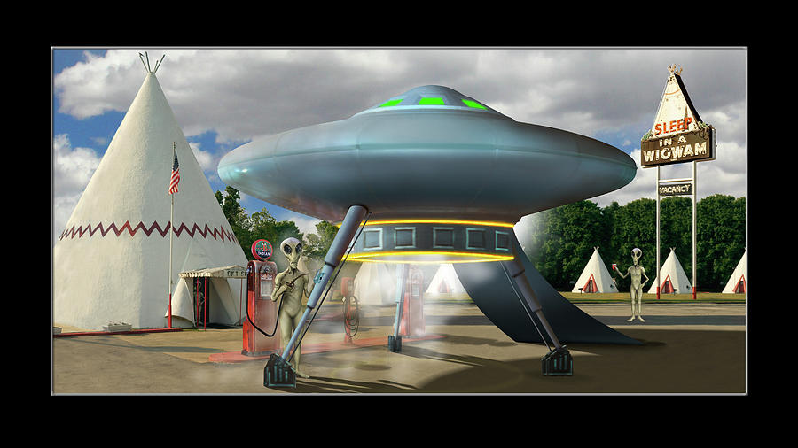 Alien Vacation - Gas Stop, Kentucky by Mike McGlothlen