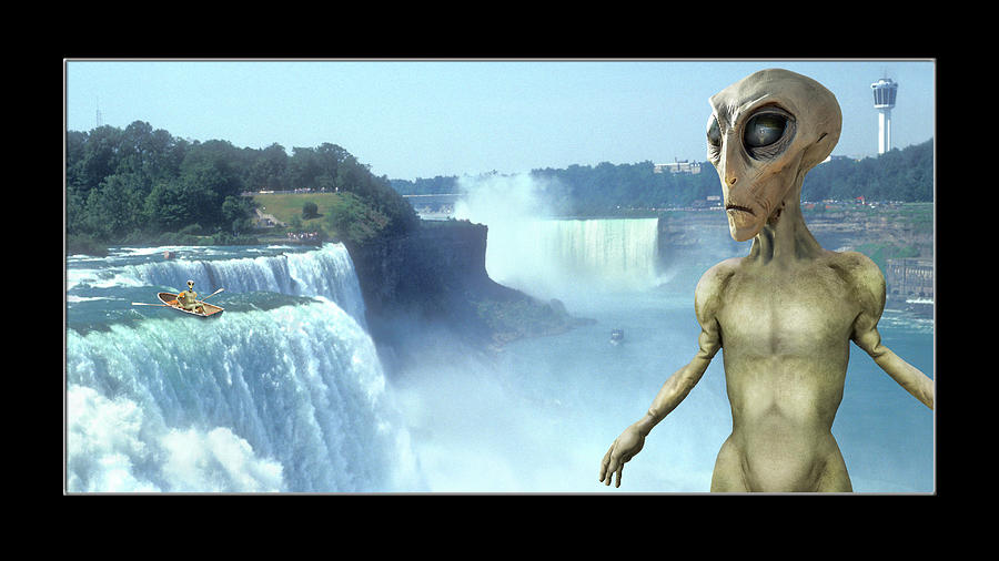 Alien Vacation - Niagara Falls H D by Mike McGlothlen