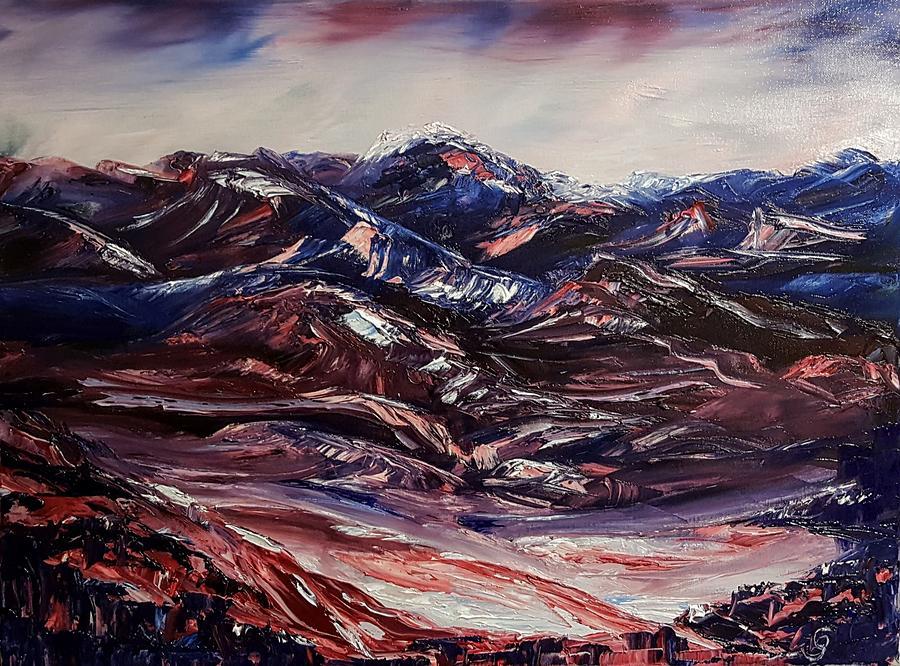 Alizarin Crimson Mountains1619 Painting