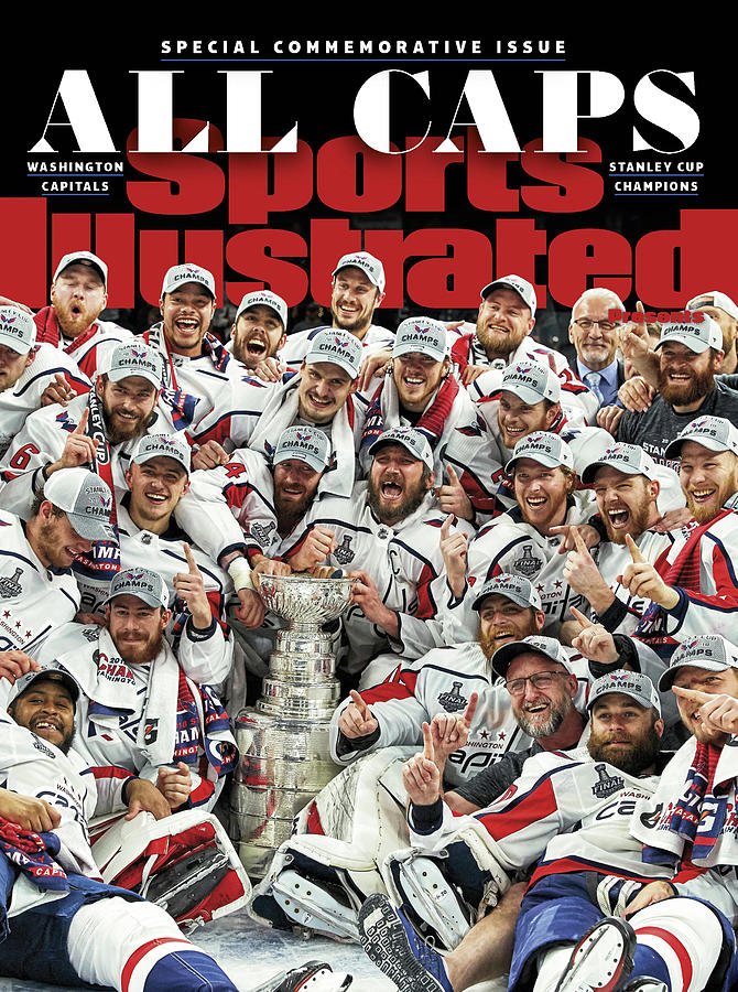 All Caps Washington Capitals, 2018 Nhl Stanley Cup Champions Sports Illustrated Cover Photograph by Sports Illustrated