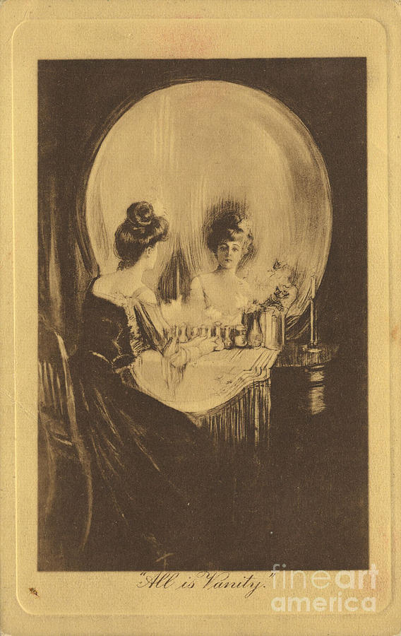 All Is Vanity C 1900 Drawing by Heritage Images