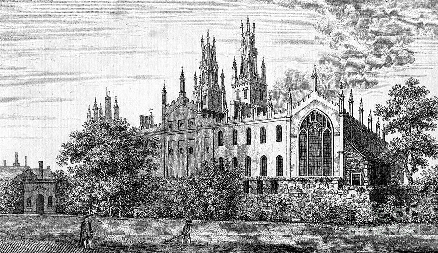 All Souls College, Oxford University Drawing by Print Collector