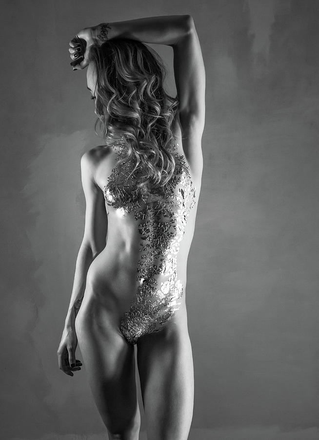 Monochromatic Nude Photograph - All That Glitters IIi by Blue Muse Fine Art