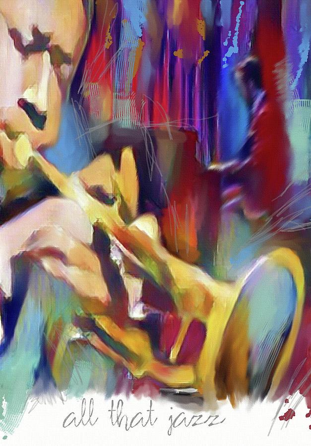Jazz Mixed Media - All That Jazz by Md Jo