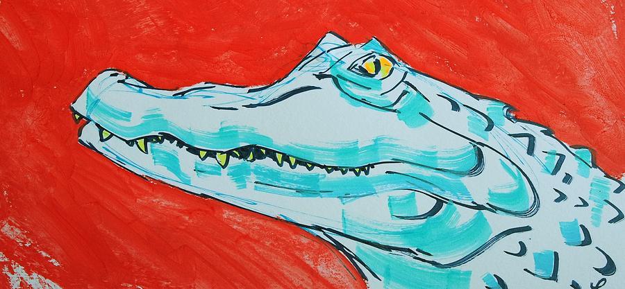 Alligator cartoon  by Mike Jory