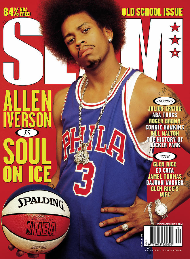 Allen Iverson is Soul On Ice SLAM Cover Photograph by Clay Patrick McBride