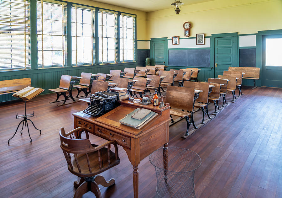 Allensworth School House - Allensworth State Park by Gene Parks