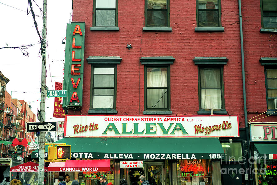 Cheese Store Photograph - Alleva In Little Italy New York City by John Rizzuto