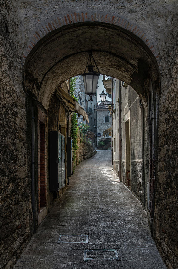 Architecture Photograph - Alleys Of San Marino by Jaroslaw Blaminsky