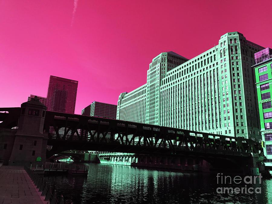 Alluring Metropolitan Pink Digital Art
