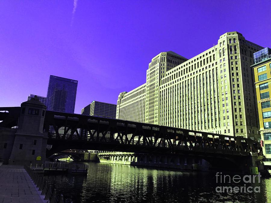 Alluring Metropolitan Purple Digital Art