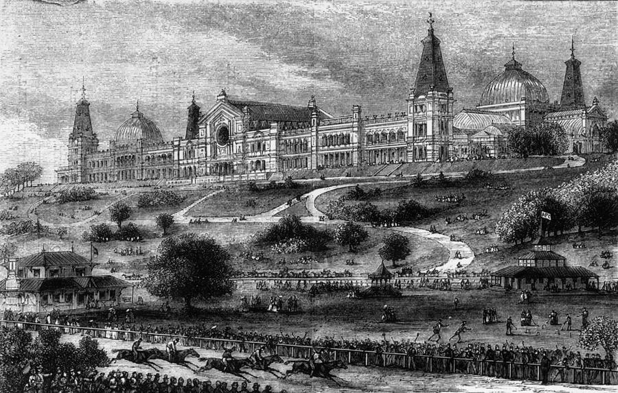 Ally Pally Racing Digital Art by Hulton Archive