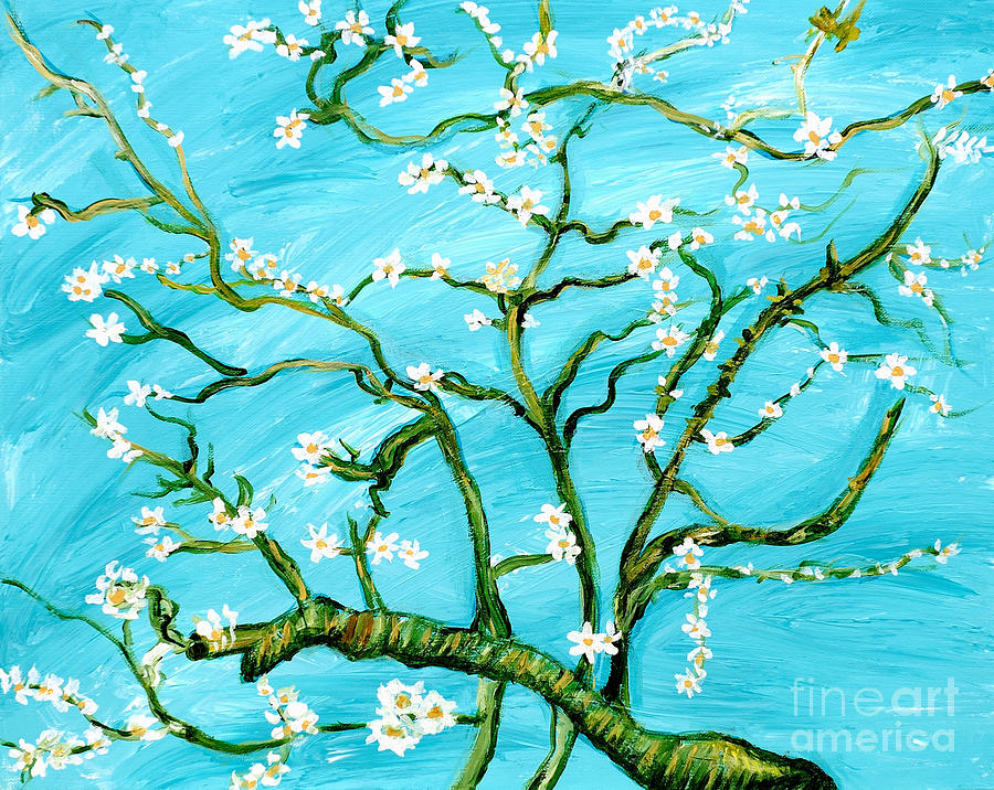 Almond Blossoms -Homage to Van Gogh by Art by Danielle