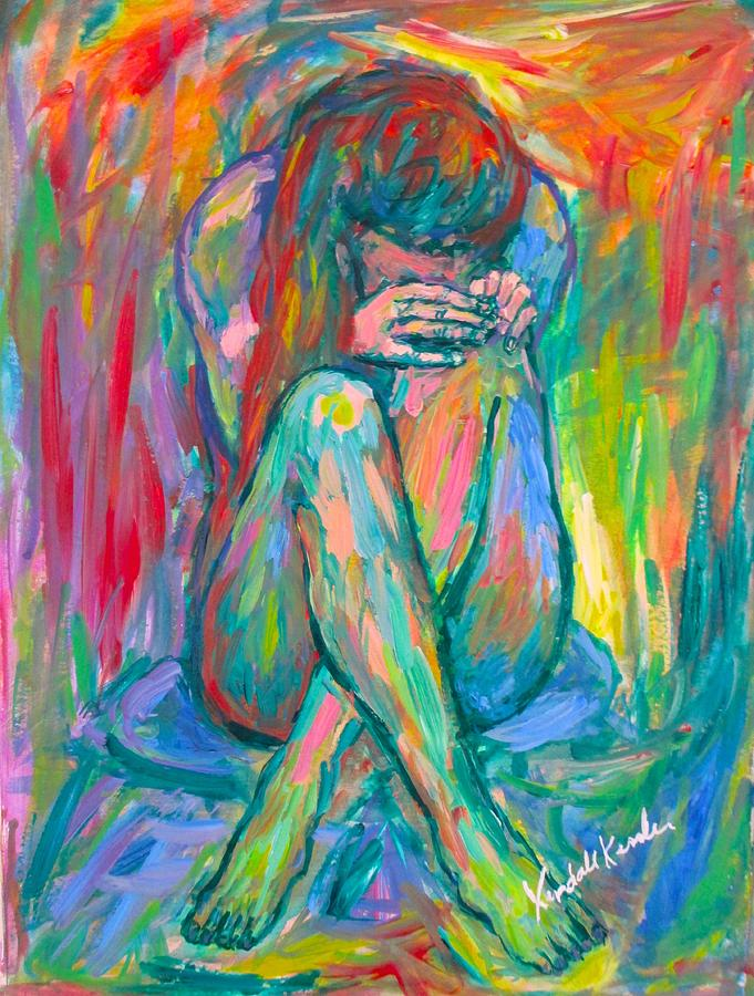 Nude Girl Painting - Alone by Kendall Kessler