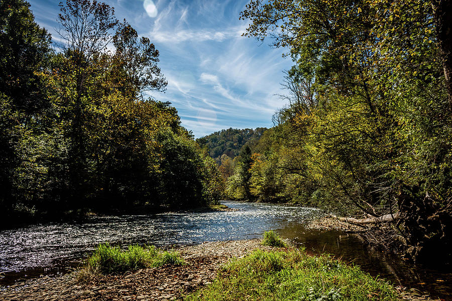 Along Oconaluftee River Trail by Susie Weaver