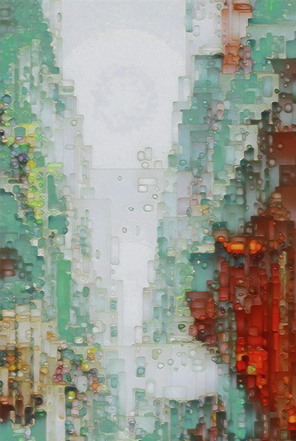 Art Print Digital Art - Along The Boulevard  by David Hansen
