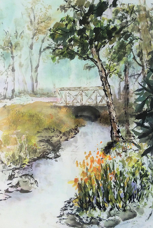 Along the Creek by Laurie Samara-Schlageter