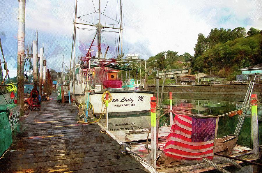 Along The Dock by Thom Zehrfeld