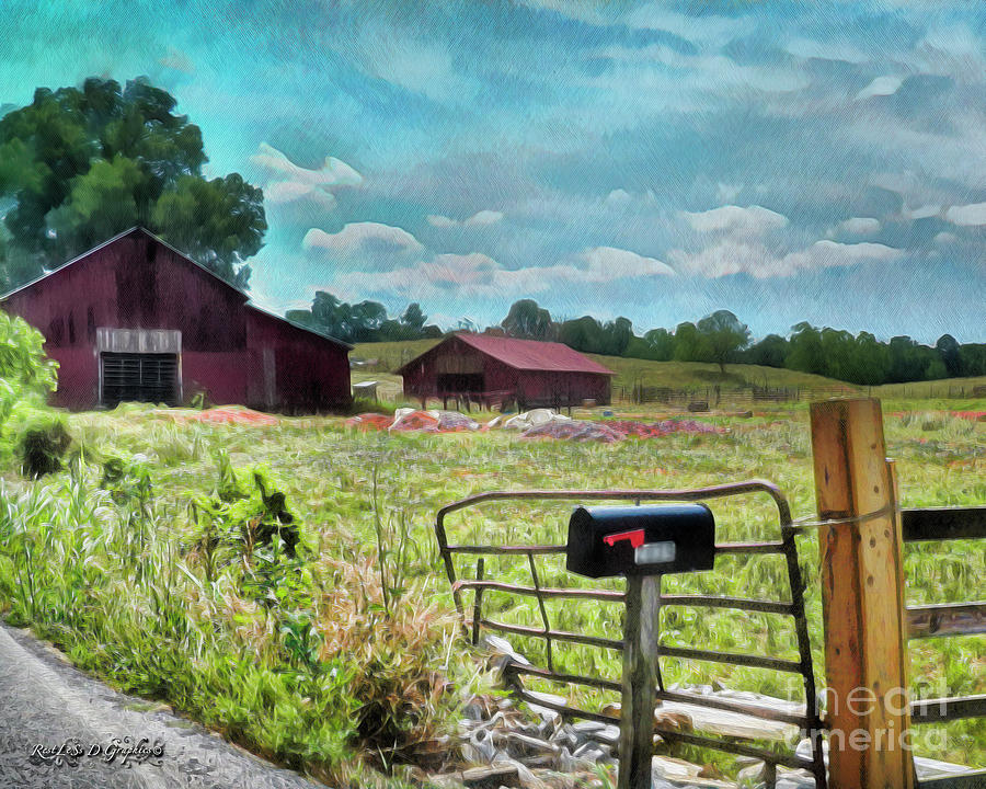 Along the Rural Road Old Barn in Tennessee II by Rhonda Strickland
