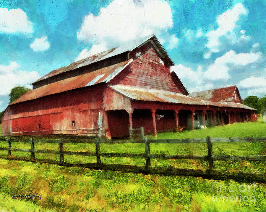 Along the Rural Road Old Barn in Tennessee III by Rhonda Strickland