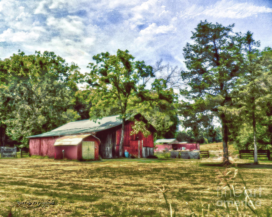 Along the Rural Road Old Barn in Tennessee by Rhonda Strickland