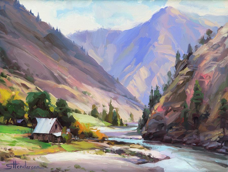 Along the Salmon River by Steve Henderson