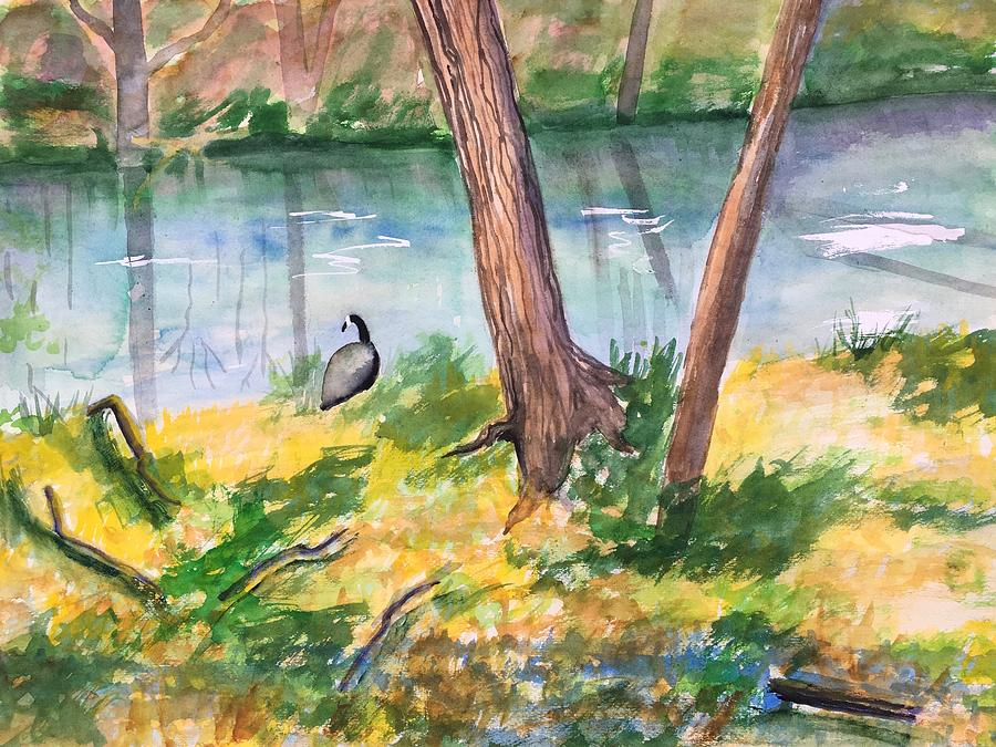 Landscape Painting - Along Tookany Creek by Marita McVeigh