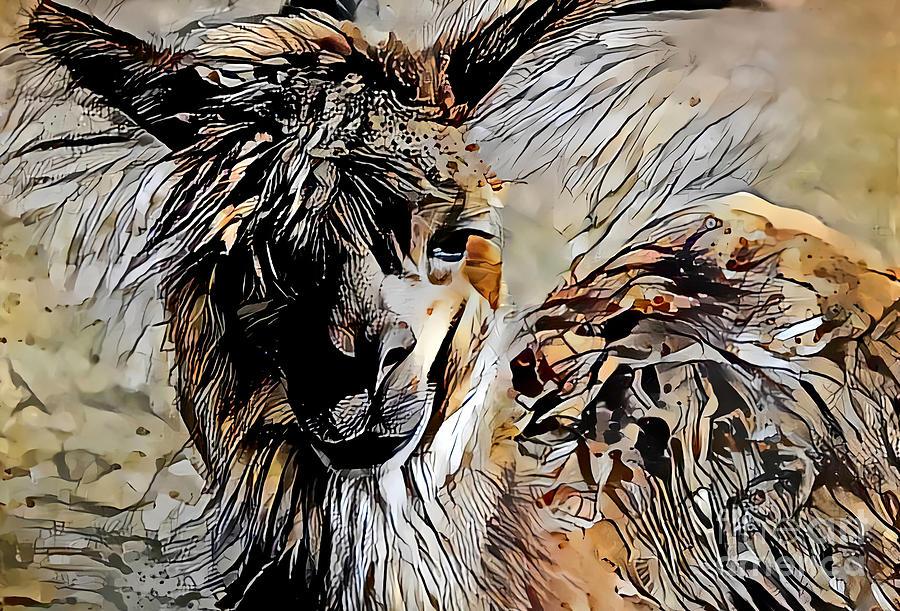 Alpaca Abstract by Trudee Hunter
