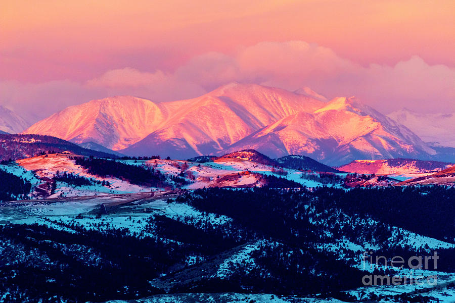 Alpenglow And Storm Clouds Photograph