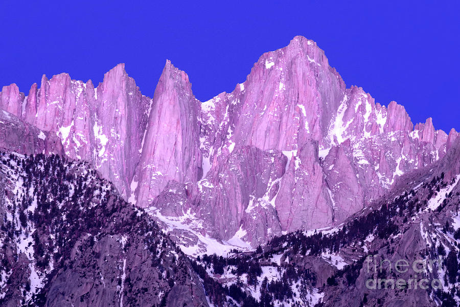 ALPENGLOW, MOUNT WHITNEY by Douglas Taylor