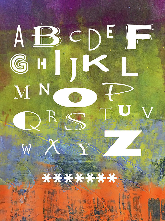 Alphabet Rainbow by Nancy Merkle
