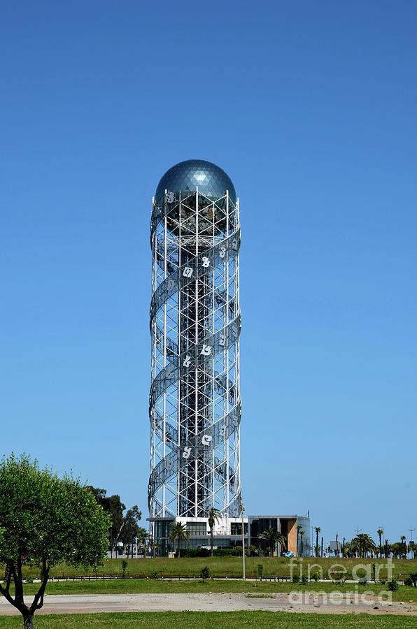 Alphabet tower DNA helix like structure Batumi Georgia by Imran Ahmed