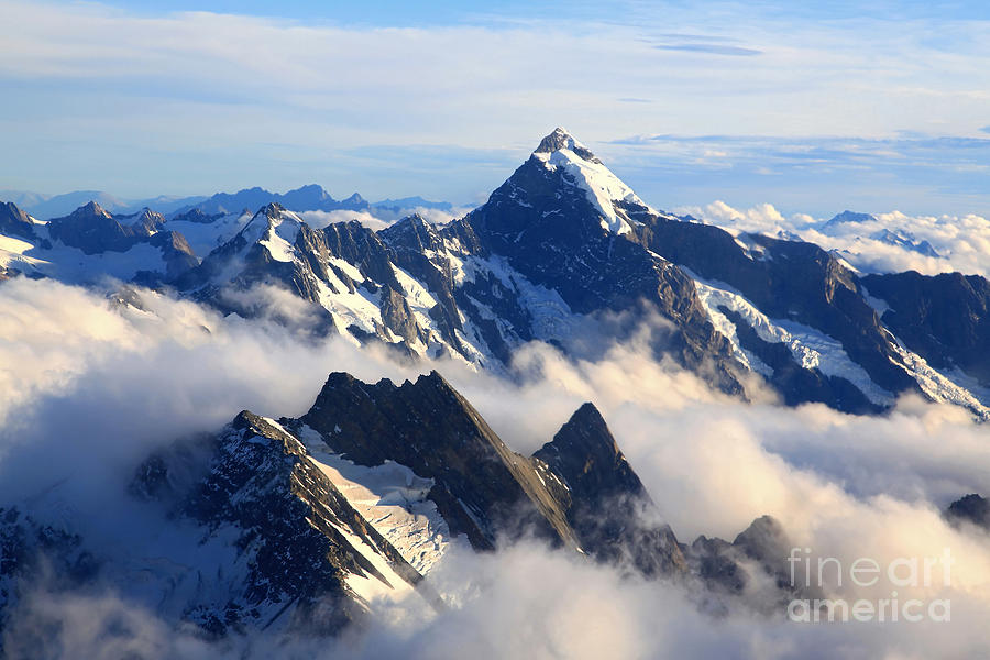 Alps Photograph - Alps Alpine Landscape Of Mountain Cook by Vichie81