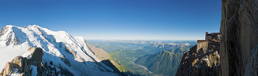 Alps Mont Blanc Aiguille Du Midi Photograph by Fotovoyager