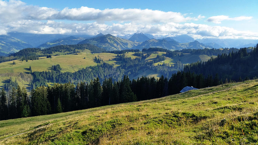 Hiking Photograph - Alps of Jaun Pass by Two Small Potatoes