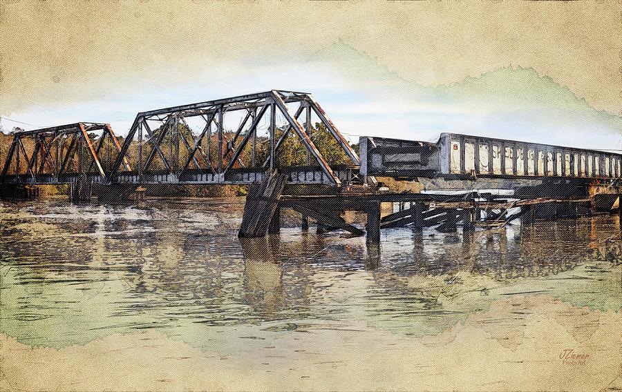 Train Photograph - Altamaha Park Trestle by Jim Ziemer