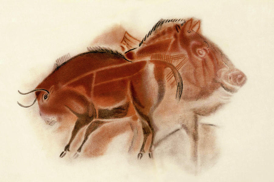 Altamira Bison Boar and Horse by Weston Westmoreland