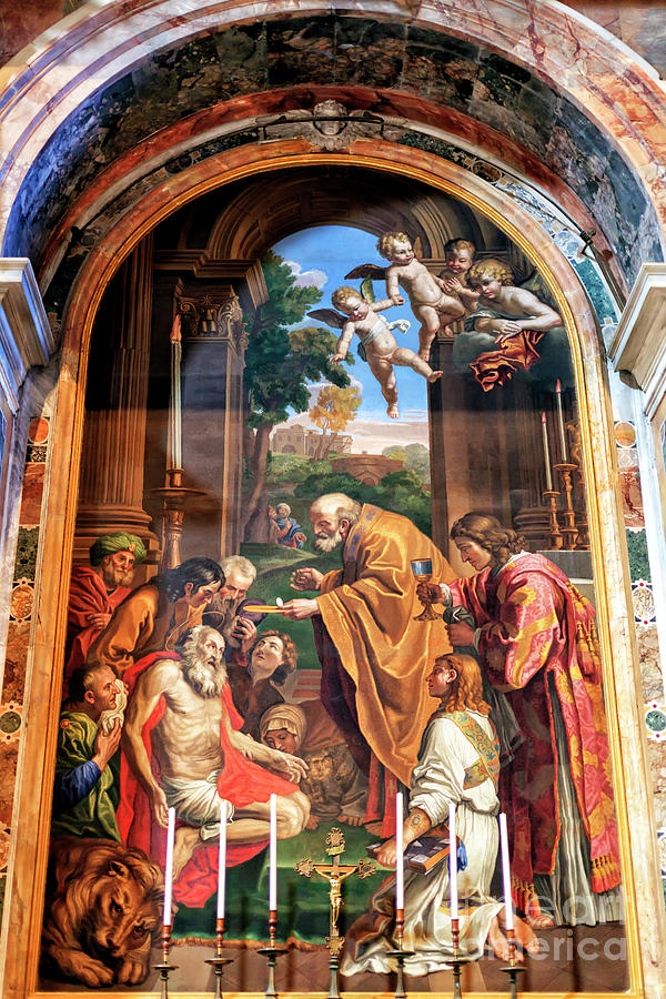 Altar of Saint Jerome at Saint Peter's Basilica in Vatican City by John Rizzuto