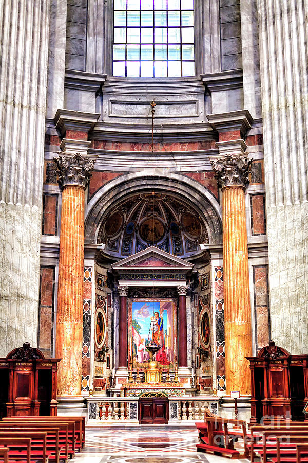 Altar of Saint Joseph at Saint Peter's Basilica in Vatican City by John Rizzuto