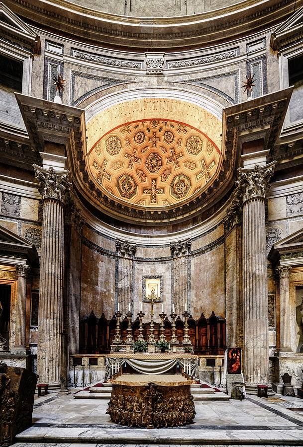 Altar Of The Pantheon In Rome Photograph