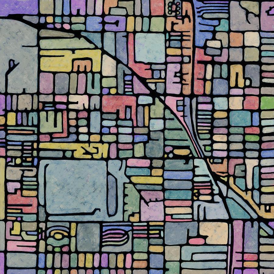 Map Digital Art - Altas Metamorph - Phoenix #1 by James Fryer
