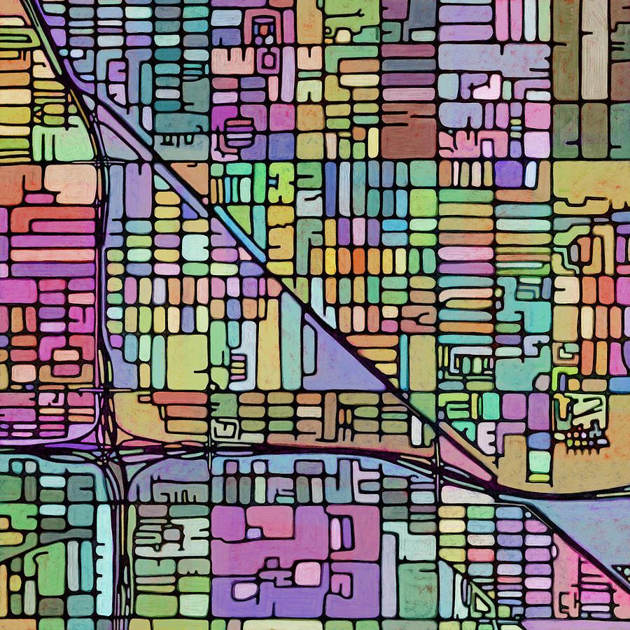 Map Digital Art - Altas Metamorph - Phoenix #2 by James Fryer