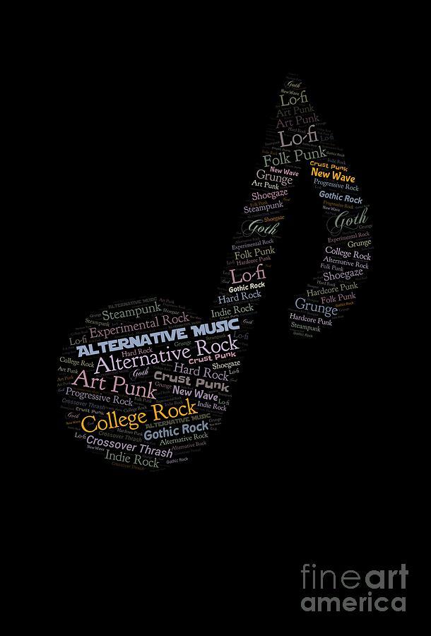 Alternative music word cloud  by Valerie Garner