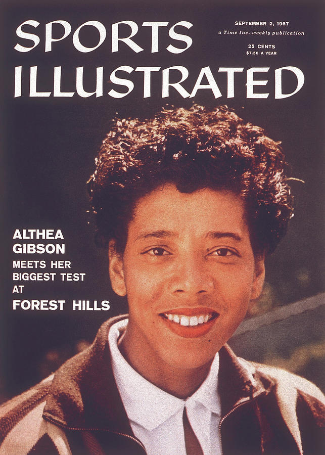 Althea Gibson, 1956 Us National Championships Sports Illustrated Cover Photograph by Sports Illustrated