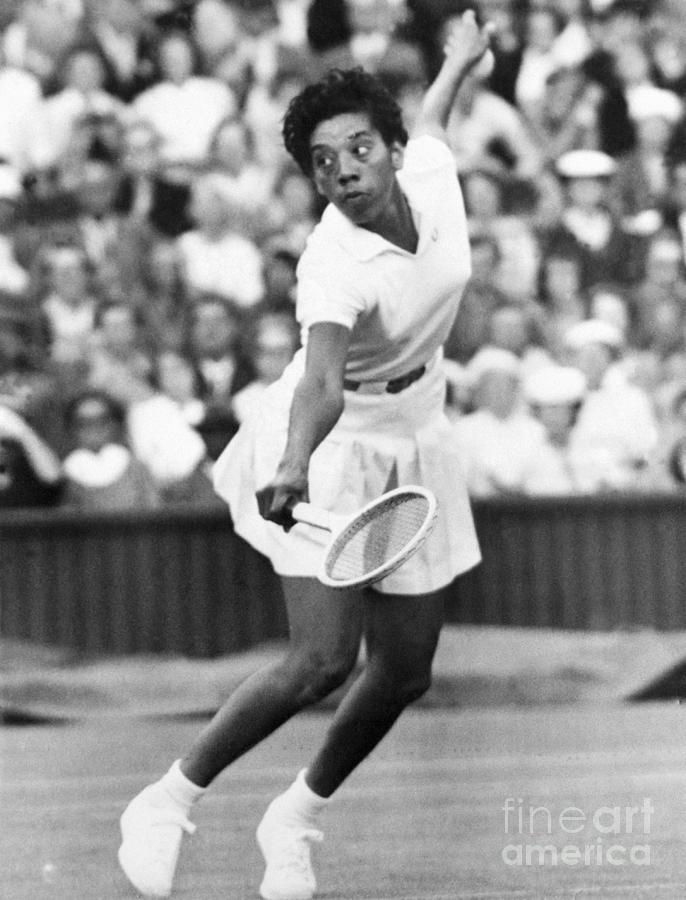 Althea Gibson Playing Tennis Photograph by Bettmann