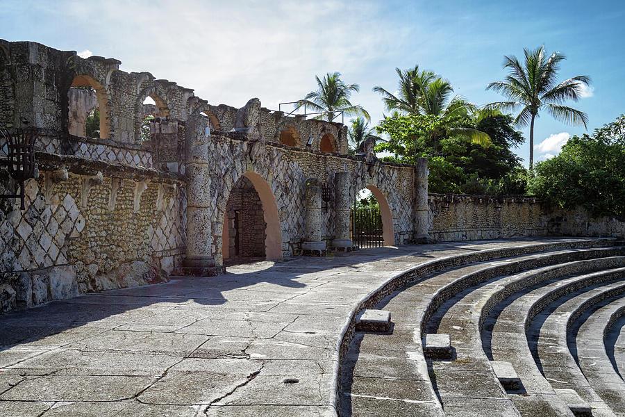 Altos de Chavon amphitheatre  by Shirley Mitchell
