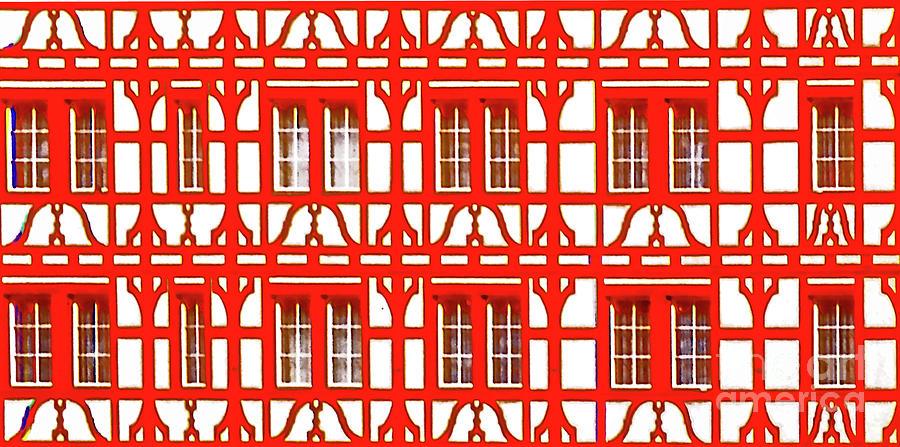 Altstadt  old town Lucerne Swiss windows  by Tom Jelen