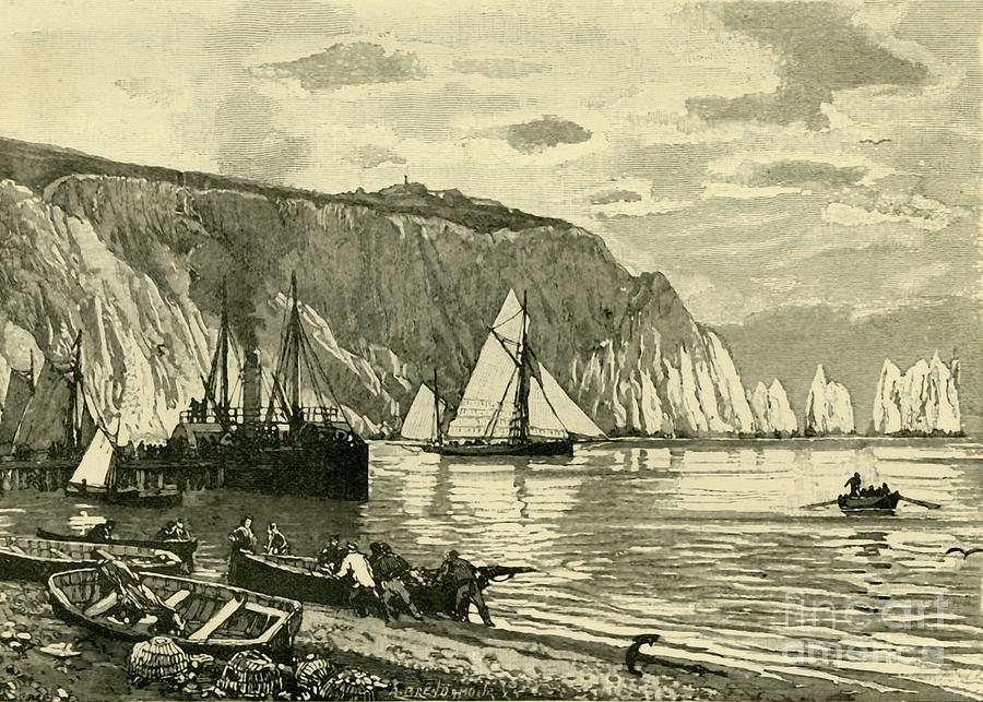 Alum Bay Drawing by Print Collector