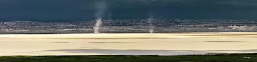 Alvord Desert Photograph - Alvord Panoramic 4 by Leland D Howard